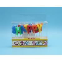 China Alphabet Individual Letter Candles For Birthday Cakes With Paraffin Wax Material on sale