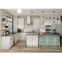 Buy cheap Modular Solid Wood Kitchen Cabinets Paint Door Finish Blum / Dtc Hardware from wholesalers