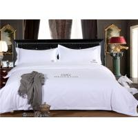 Buy cheap Smooth Restaurant Or Hotel Bed Linen / White Hotel Collection Bedding from wholesalers