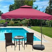 double layers patio umbrella custom logo printing available small