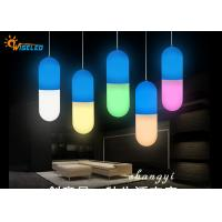 China Customized Colorful Capsule Shaped  Polyethylene Table Top Hanging Light on sale