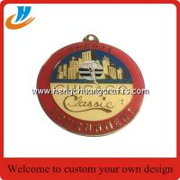 Buy cheap Custom Chicago tournament metal medals,engraved die casting soft enamel metal medals with epoxy from wholesalers