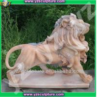 Buy cheap Natural sunset red marble Animal sculpture from wholesalers