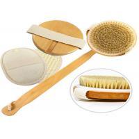 Detachable Exfoliating Body Natural Bristle Scrub Brush Durable Eco Friendly