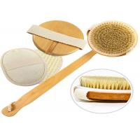 Quality Detachable Exfoliating Body Natural Bristle Scrub Brush Durable Eco Friendly for sale