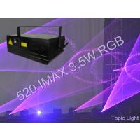 Buy cheap Programmable Stage Club Light Show DMX 520 IMAX 3.5W Laser Light from wholesalers