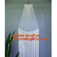 Buy cheap Macrame Wall Art Hanging Tapestry Wedding Decoration with Lace Fabrics, MACRAME CUSHION COVER, MACRAME HAND BAND from wholesalers