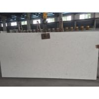 Buy cheap Large White Mirror Quartz Floor Tiles , Solid White Quartz Countertops Slab from wholesalers