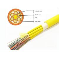 Buy cheap Breakout Tight Buffered Fiber Optic Cable 2 - 24 Fiber Count PVC / LSZH Jacket GJPFJV from wholesalers