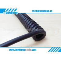 Buy cheap Good Quality Half Matt Black Colour Flexible Customized Spring Coiled Cable from wholesalers