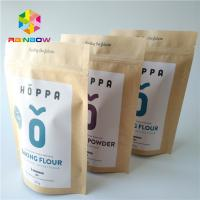 Buy cheap No Pollution Heat Seal Food Packaging Stand Up Kraft Paper Zipper Bag For Nuts / Protein Powder from wholesalers