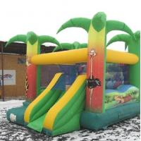 Buy cheap Chirdren Jump N Slide Jungle Bouncy Castle Super Heroes Durable 0.55mm PVC from wholesalers