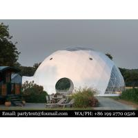 Buy cheap Outdoor Prefab Event PVC Steel House Glamping Bell Eco Canopy 6m Tent Geodesic Dome from wholesalers
