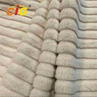 Buy cheap Decorative Polyester Jacquard Fake Fur For Garments / Car Seat Cover 150CM Width from wholesalers