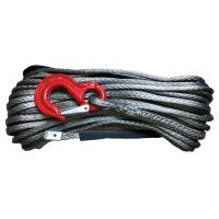 Buy cheap Free Shipping 14mm x 30m synthetic Plasma UHMWPE winch line rope cable with hook from wholesalers