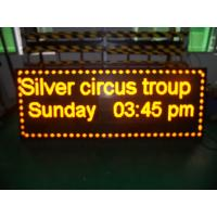 Buy cheap Digital Yellow Led Scrolling Message Sign Advertising 1/8 Scan 192 * 192 from wholesalers