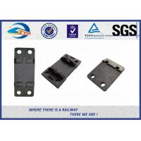 Buy cheap Double Shoulder Forged Cast Rail Base Plate Hole Diameter 10MM from wholesalers