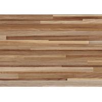 Wood Grain Durable PVC Vinyl Flooring For Garage / Gym Semi Matt Brightness