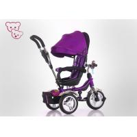 Buy cheap Safety Plasitc 3 Wheel Trike For Toddlers , Tricycle With Push Handle For 3 - 6 Years Children from wholesalers