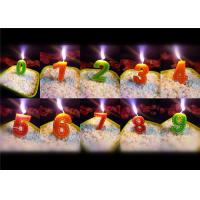 Buy cheap Beauty Stitches Printed Numerical Birthday Candles White Short Line Border Wax from wholesalers