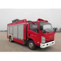 6 Forward Gear Light Up Fire Truck , Pneumatic Lifting Poker Heavy Rescue Fire Truck