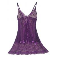 Buy cheap Hollow out sexy nightgown Perspective of bud silk skirt with shoulder-straps appeal spring from wholesalers