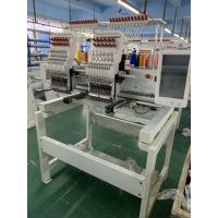 China Two head 6/9/12/15 needles embroidery machine for flat cap t-shirt embroidery on sale