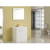 Buy cheap Free Standing White Flush Color Square Sinks Bathroom Vanities ISO2000 Standard from wholesalers