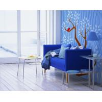Buy cheap New Designed Blue Flower Wall Art, Interior Decoration Wallpapers JC-055 2012 from wholesalers