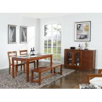 Buy cheap Nanmu solid wood Dining room furniture 1.35m flexible Round table and Chairs Tall wine cabinet with buffet from wholesalers