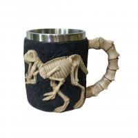 Buy cheap 400ml animal polyresin double side stainless steel mug from wholesalers
