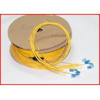 Buy cheap LC UPC To LC UPC Fiber Optic Patch Cables , Pre Terminated Fiber Jumpers 12 Cores from wholesalers
