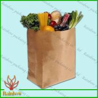 Buy cheap Brown Kraft Custom Paper Bags Recyclable Durable For Fruit from wholesalers