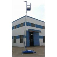 Buy cheap Aluminum Double Mast Mobile Aerial Work Platform 10m Lifting Height from wholesalers