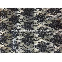 Buy cheap 50 Decorative Extra Wide Nylon Lace Fabric Black For Wedding Dresses from wholesalers