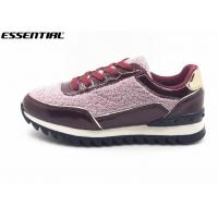 Buy cheap Warm Ladies Luxury Casual Shoes Glitter And Imitation Suede Lace Up Europe Style from wholesalers