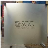 Buy cheap clear acid etched glass panel 3mm 4mm 5mm 6mm 8mm 10mm 12mm 15mm 19mm from wholesalers