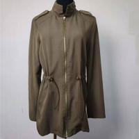 Buy cheap Windproof Fashion Ladies Jackets , Long Sleeves Army Green Trench Coat product