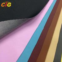 Buy cheap Colorful Synthetic Leather Fabric 0.8-1.2mm Thickness / Synthetic Pu Leather Car Seat Cover product