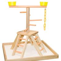 Buy cheap wooden table top bird stands,for sun conures and cockatiel from wholesalers