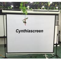 Buy cheap Cynthia Matte White Motorized projector screen with remote control 178x178cm from wholesalers
