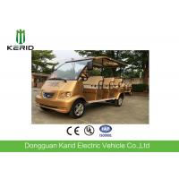 Buy cheap Royal Gold Color Electric Shuttle Bus For 8 Passengers Battery Operated from wholesalers
