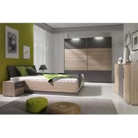 Buy cheap Mirrored Bedroom FurnitureWith Side Table , Mordern Bedroom Storage Furniture Sets from wholesalers