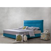 Buy cheap Fabric Upholstered Headboard Bed SOHO Apartment Bedroom interior fitout Leisure Furniture from wholesalers