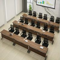 Buy cheap Wooden Classroom Training Room Desks / Foldable Conference Table Tops With Wheels from wholesalers