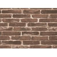 Buy cheap Moisture Proof 3d Brick Effect Wallpaper Waterproof Vinyl Wall Covering Size 0.53*10m product