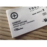 Buy cheap Cotton Woven Clothing Labels With White Background And Printing Graphic Logo from wholesalers