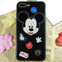 Buy cheap PC+TPU Silk Grain Cute Smile Micky Minnie Cell Phone Case Cover For iPhone 7 6s Plus from wholesalers