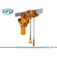 Buy cheap Super Low Type Electric Chain Hoist 380V / 220V Voltage Lifting Height 3 - 10m from wholesalers