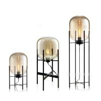 Buy cheap Small / Large E27 Floor Standing Lamps Grey Amber Finish Glass Pulpo Oda from wholesalers